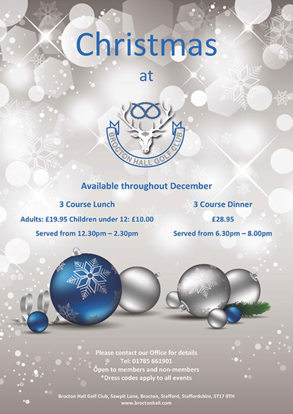 Christmas Lunches and Dinners