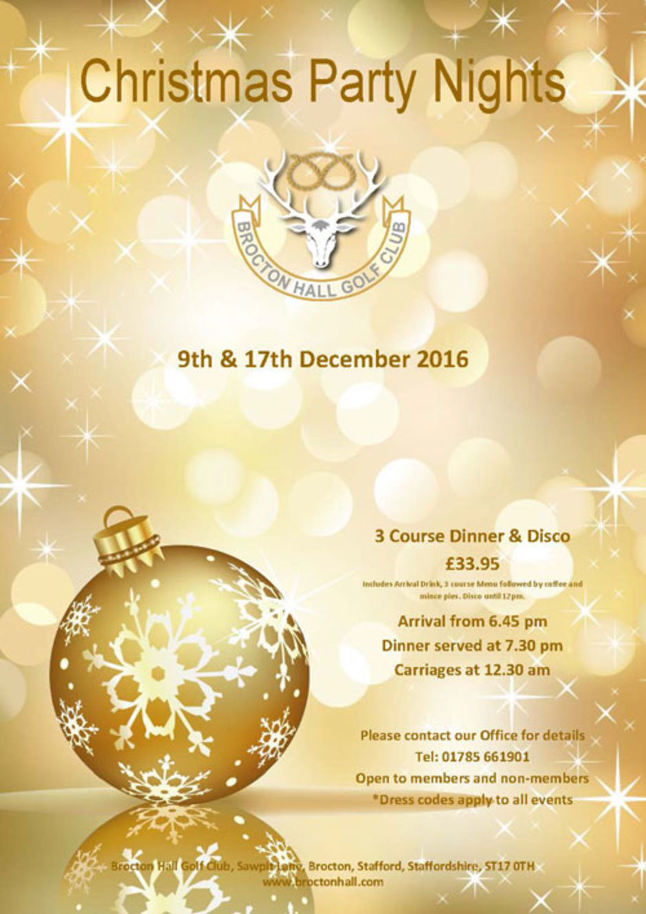 Christmas Party Nights 2016 Poster