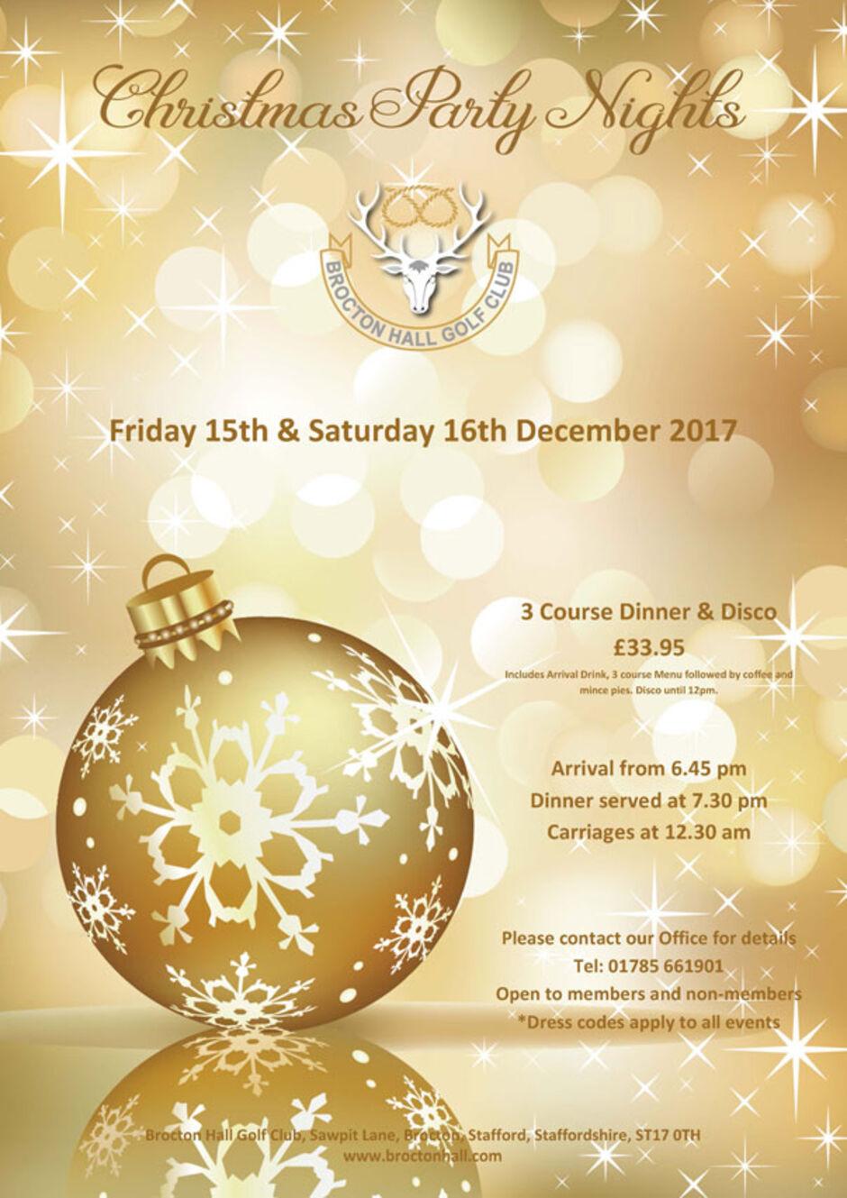 Christmas at Brocton :: Brocton Hall Golf Club